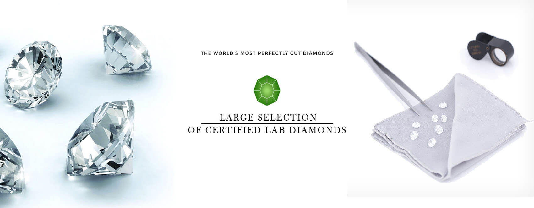 Large Selection of Certified Lab Diamonds